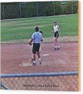 Softball Game Wood Print