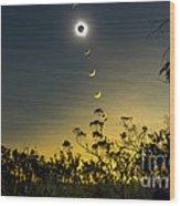 Solar Eclipse Composite, Queensland Wood Print