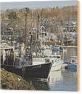 South Bristol And Fishing Boats On The Coast Of Maine Wood Print