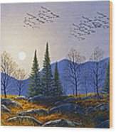 Southern Migration By Moonlight Wood Print
