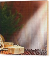 Spa Ambiance Wood Print by Olivier Le Queinec