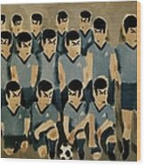 Spock Soccer Team Art Print Wood Print