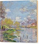 Spring By The Seine Wood Print