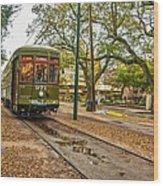 St. Charles Streetcar Wood Print