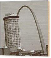St. Louis - Gateway Arch Wood Print