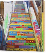 Stairway To Heaven Valparaiso  Chile Wood Print