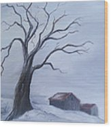 Standing Alone Wood Print by Glenda Barrett