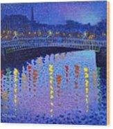 Starry Night In Dublin Wood Print