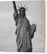 Statue Of Liberty National Monument Liberty Island New York City Wood Print