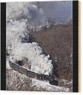 Steam At Scranton Wood Print