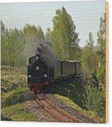 Steam Locomotive Wood Print