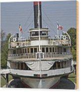 Steamboat Ticonderoga Wood Print