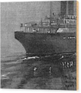 Steamship Accident, 1914 Wood Print