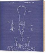Stethoscope 1882 Patent Art Blue Wood Print