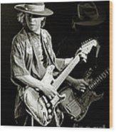 Stevie Ray Vaughan 1984 Wood Print