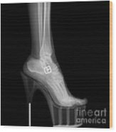 Stiletto High-heeled Shoe Wood Print