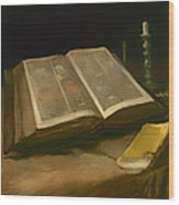 Still Life With Bible Wood Print