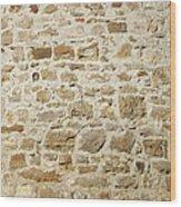 Stone Wall Wood Print
