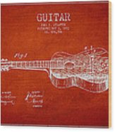 Stratton Guitar Patent Drawing From 1893 Wood Print