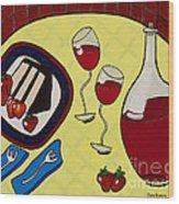 Strawberry Wine Wood Print