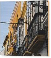 Streets Of Seville Wood Print