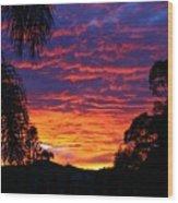 Stunning Sunset Wood Print