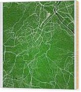 Stuttgart Street Map - Stuttgart Germany Road Map Art On Colored Wood Print