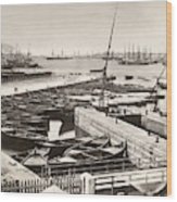 Suez Canal Port Said Wood Print