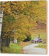 Sugar Mill Vermont Wood Print