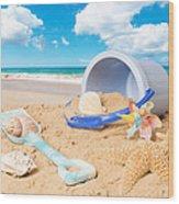Summer Beach Wood Print