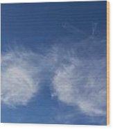 Summer Clouds Wood Print
