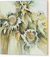 Sunflowers V Wood Print