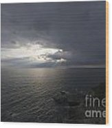 Sunlight Over The Sea Wood Print