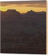 Sunrise At The Grand Canyon Wood Print