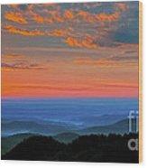 Sunrise Blue Ridge Parkway Wood Print