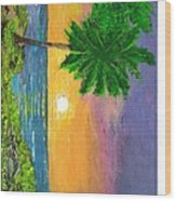 sunrise on Florida Beach Wood Print