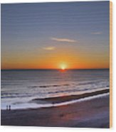 Sunrise Over Atlantic Ocean, Florida Wood Print