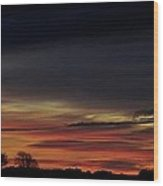 Sunrise Over The Fields Of Athenry. Wood Print