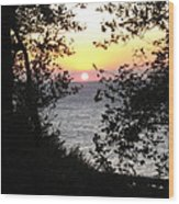 Sunset In Samothraki Wood Print