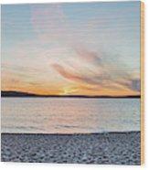 Sunset On South Bay, Lake Superior Wood Print