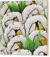 Sushi Platter Wood Print