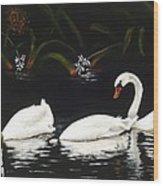 Swans IIi Wood Print