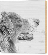 Sweet Puppy Wood Print