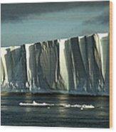 Tabular Iceberg Antarctica Wood Print