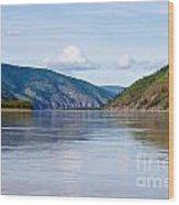 Taiga Hills At Yukon River Near Dawson City Wood Print