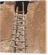 Talus House Front Door Bandelier National Monument Wood Print