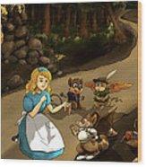 Tammy Meets Cedric The Mongoose Wood Print