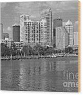Tampa Skyline From Davis Islands Wood Print