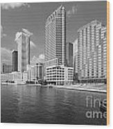 Tampa Skyline From Hillsborough River Wood Print