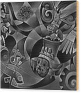 Tapestry Of Gods - Tlaloc Wood Print